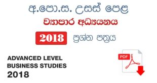 BS advance level Business Studies 2018
